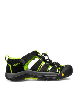 Keen Sandalias Newport H2 black, lime green -323g-