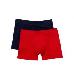 Pack 2 boxers 5H3378_551 marino, rojo