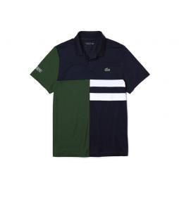 Polo Sport Tennis en Piqué Transpirable verde, marino