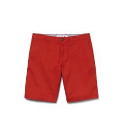 Bermudas Slim Fit rojo