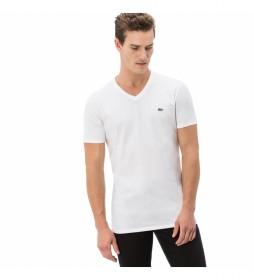 Camiseta V blanco