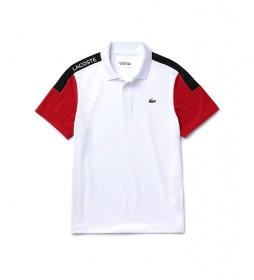 Polo Sport Piqué Transpirable blanco