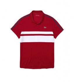 Polo SPORT Tennis en Piqué Transpirable y Resistente rojo