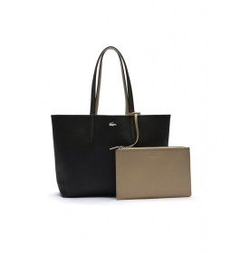 Bolso Anna Reversible Bicolor beige, negro -35x30x14cm-
