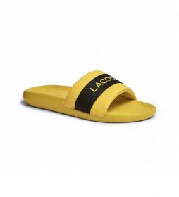 Chanclas Croco de Tela amarillo