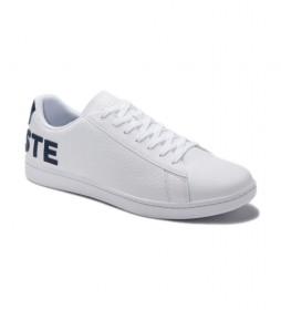 Zapatillas de piel Carnavy Evo blanco, marino