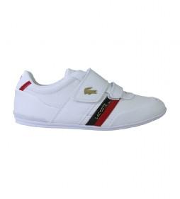 Zapatillas de piel Misano Strap blanco, rojo