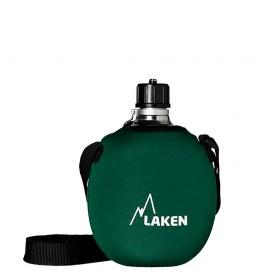 Laken Aluminum flask green neoprene sleeve -1L / 253g-