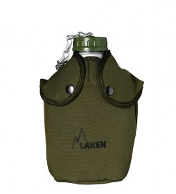 Laken Aluminum flask with green felt cover -1,3L / 288g-
