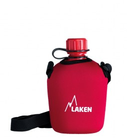 Laken Polyethylene water bottle with red neoprene cover -1L / 197g-