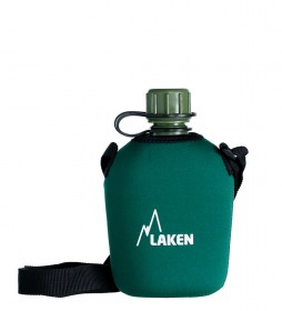 Laken Polyethylene water bottle with green neoprene cover -1L / 197g-