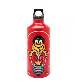Laken Botella de aluminio Red Fire de Kukuxumuxu Futura rojo -0,60L / 103g-