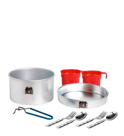 Laken Camping set aluminum covered + cups -3pzs / 1.25L / 451g-
