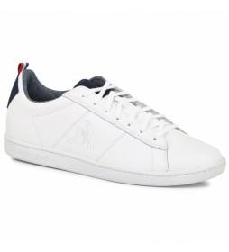 Zapatillas de piel Courtclassic Denim blanco white/dress b