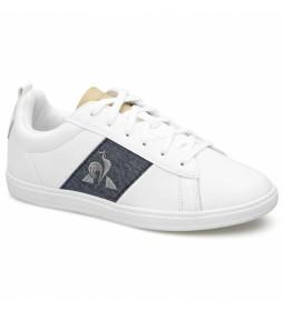 Zapatillas de piel Courtclassic GS blanco, azul