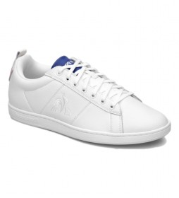 Zapatillas de piel Court Classic Sport blanco