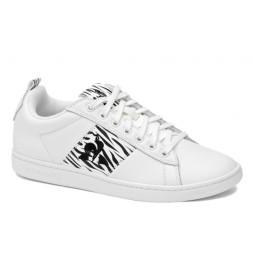 Zapatillas de piel Court Classic W Animal blanco