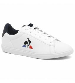 Zapatillas de piel Courtset GS blanco, marino