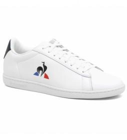 Zapatillas de piel Courtset blanco, azul
