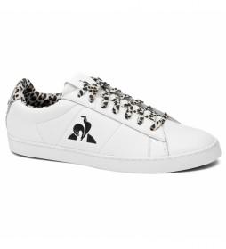 Zapatillas de piel Elsa Animal blanco