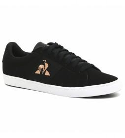Zapatillas Elsa negro, dorado