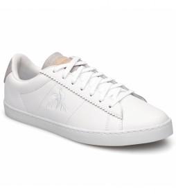 Zapatillas de piel Elsa Brogue blanco