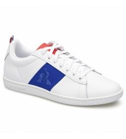 Zapatillas de piel COURTCLASSIC BBR blanco, azul