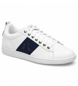 Zapatillas de piel COURTCLASSIC W blanco, marino