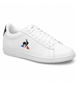 Zapatillas de piel COURTSET W blanco, azul