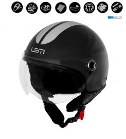 Lem Helmets Helmet jet Luma Roger Go Fast black, silver