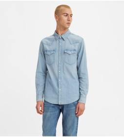 Camisa Western Barstow azul