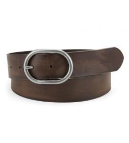 Cinturón de piel Calneva marrón