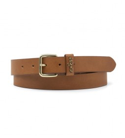 Cinturón de piel Caplypso marrón