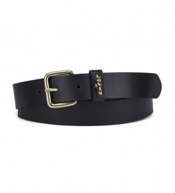 Cinturón de piel Caplypso negro
