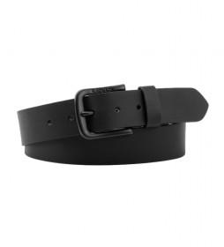 Cinturón de piel Seine Metal negro -4cm-