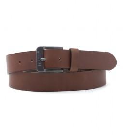 Cinturón de piel Free Metal marrón