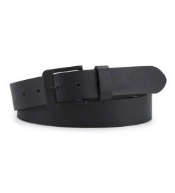 Cinturón de piel Free Metal negro