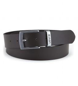 Cinturón de piel Hebron marrón
