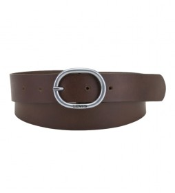 Cinturón de piel Hermosilla marrón