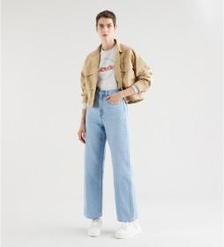 Jeans High Loose Full Circle azul claro
