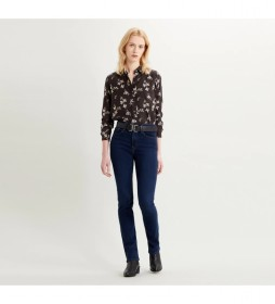 Jeans 724 High Rise Straight marino