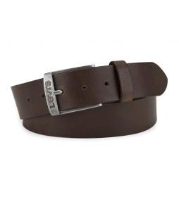 Cinturón de piel New Duncan marrón