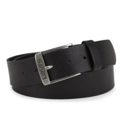 Cinturón de piel New Duncan negro