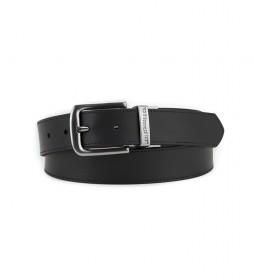 Cinturón de piel Piedmont negro