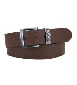 Cinturón de piel  Pilchuck marrón