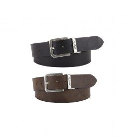Cinturón de piel Reversible Core marrón, negro