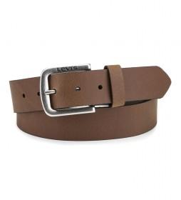 Cinturón de piel Seine marrón