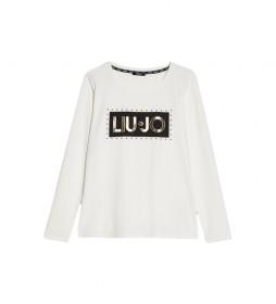Camiseta con Logotipo blanco