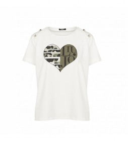 Camiseta T-TF1009-J0088-10602 blanco