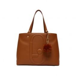 Bolso Tote Ecosostenible marrón -35x15x27cm-